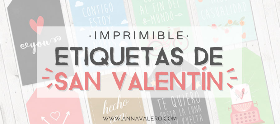 Imprimibles para San Valentín: etiquetas de regalo