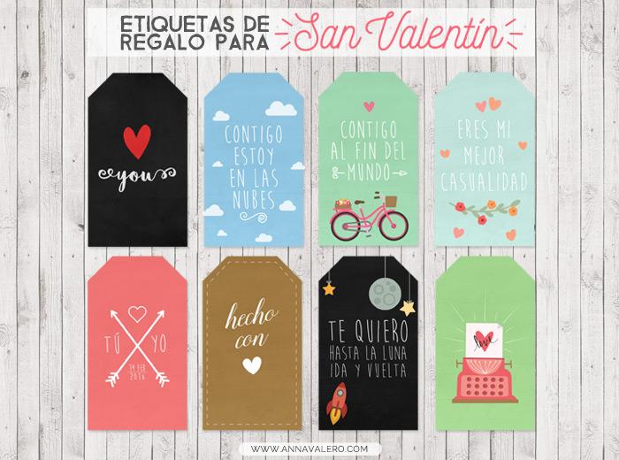 etiquetas regalo san valentin