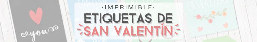 Descargar etiquetas de San Valentín