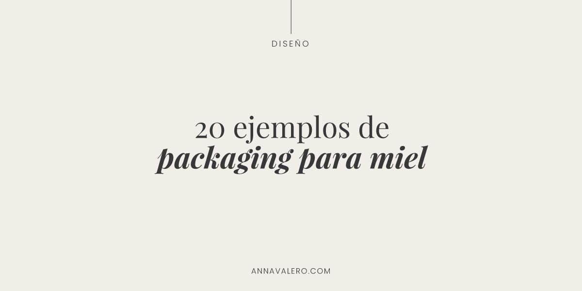 20 ejemplos de packaging para miel