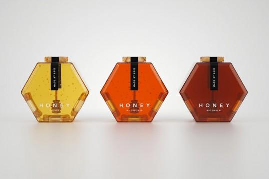 packaging para miel hexagon