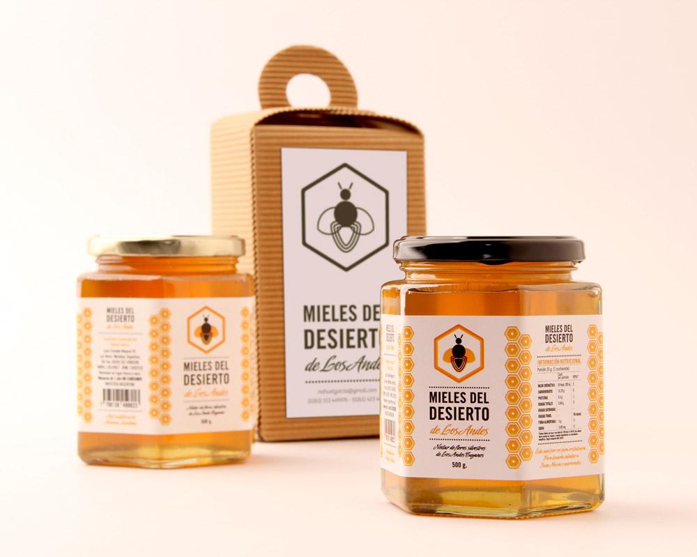 mieles del desierto packaging miel