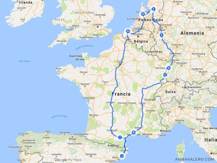 Ruta Europa Furgoneta 2017